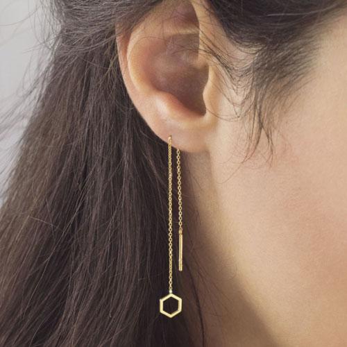 Long and Threader Earrings