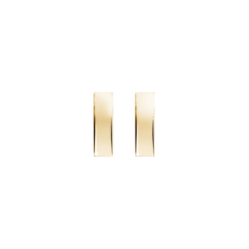 Simple Gold Bar Stud Earrings in Yellow Gold