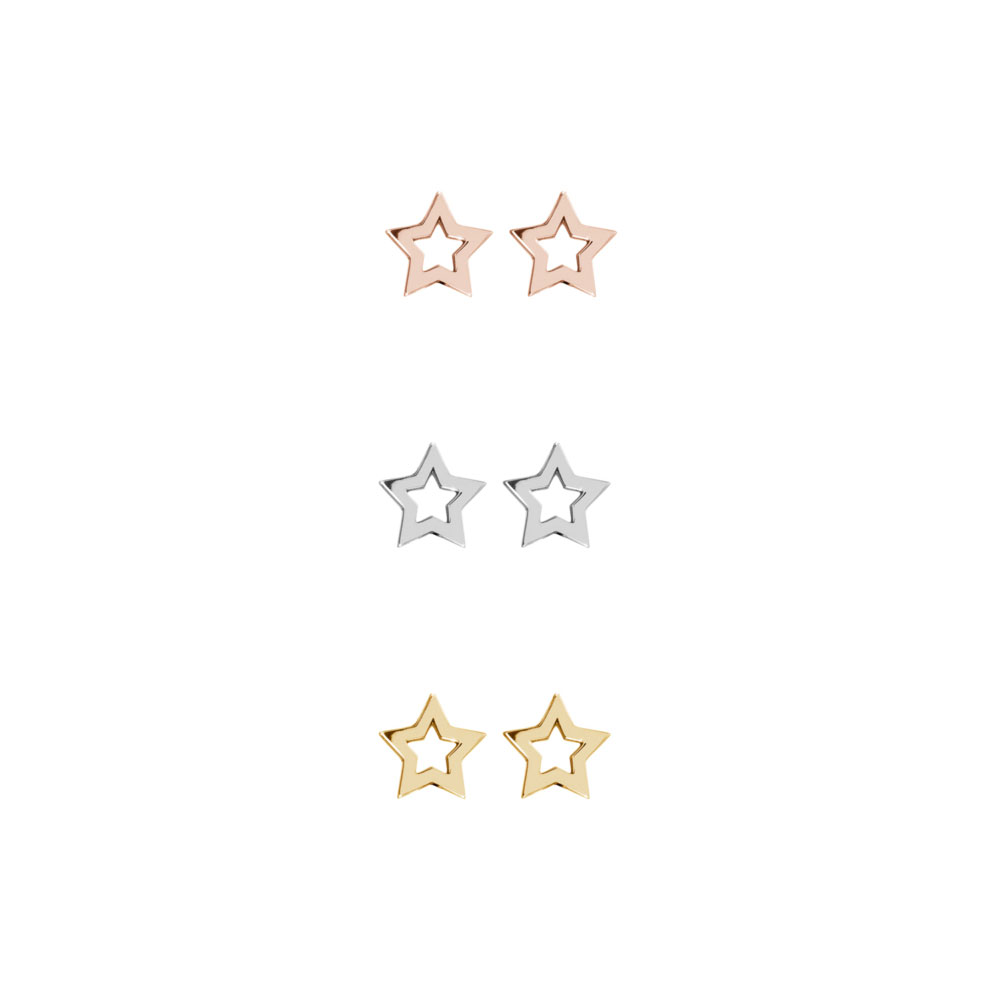 All Three Options Of The Dainty Star Studs